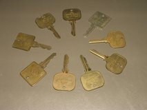 Brass Hotel keys in St. Charles, Illinois