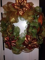 Custom Decor WREATHE (gold, bronze & lime green) in Baytown, Texas